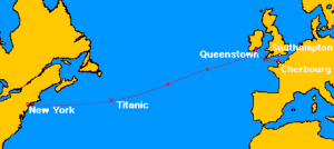 Titanic-the-route